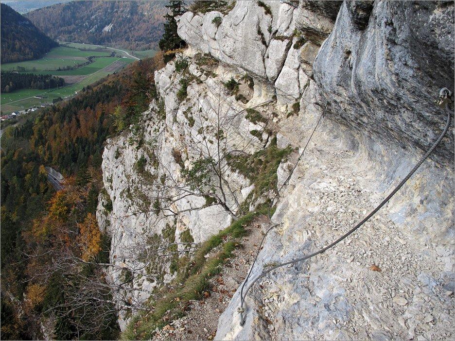 Klettersteig Jura : Klettersteig via ferrata tichodrome